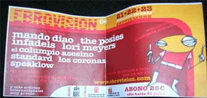 Flyer del festival Ebrovision 2006