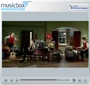 Reproductor de la web Sony MusicBox Video