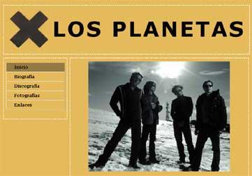 Imagen de la portada del minisite dedicado a Los Planetas