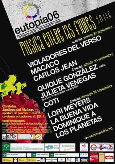 Cartel de la edicion del 2006 del festival Musica entre las Flores