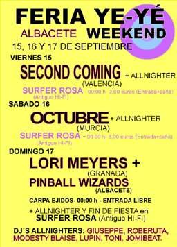 Cartel del festival Ye-Ye en Albacete