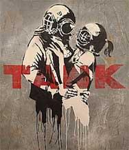 Artwork que realizó Banksy para el álbum Think Tank de Blur