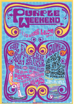 Imagen del cartel del festival mod Purple Weekend
