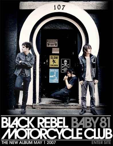 Cartel publicitario del nuevo disco de Black Rebel Motorcycle Club