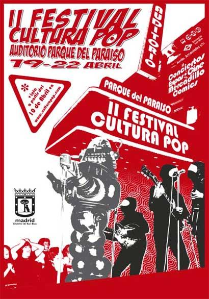 Cartel promocional del II Festival Cultura Pop