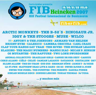 Cartel del Festival Internacional de Benicassim