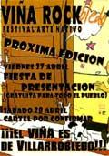 Cartel provisional del Viña Rockbledo 2007
