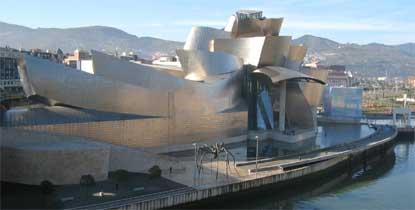 Vista del Guggenheim bilbaino