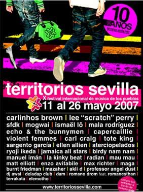 Cartel del festival Territorios Sevilla 2007