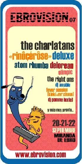Cartel provisional del festival Ebrovision 2007