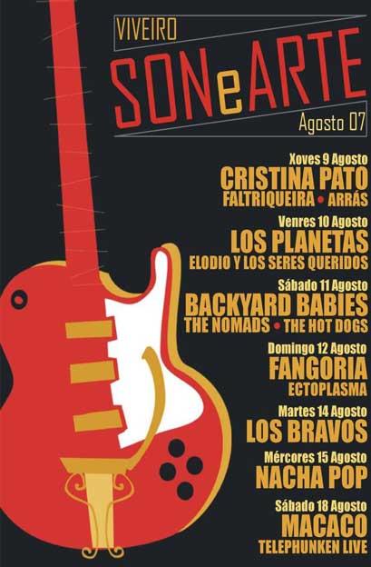 Cartel del festival Sonearte Viveiro 2007