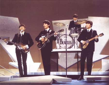 Los Beatles en el show de Ed Sullivan en su primera actuación