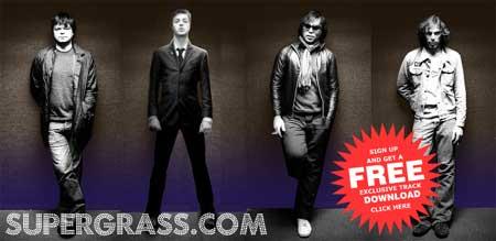 Imagen de la página de inicio de la web oficial de Supergrass