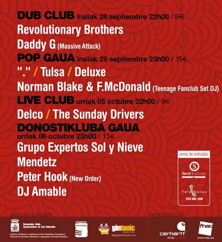 Cartel promocional del festival Donosticluba 07