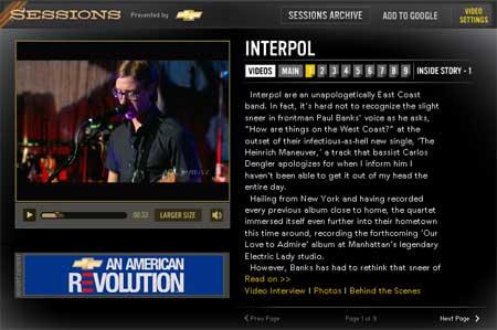 Imagen de la página web dedicada a la AOL Session de Interpol
