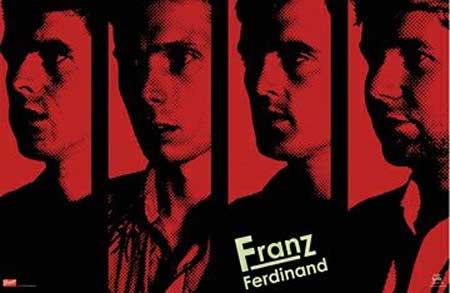 Un poster de los escoceses Franz Ferdinand