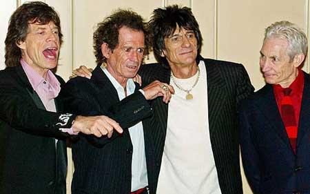 La banda de música de rock The Rolling Stones