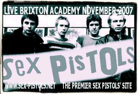 Montaje para el concierto de los Sex Pistols en Brixton
