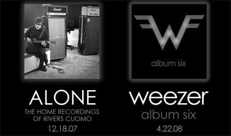 Portadas del álbum en solitario de Rivers Cuomo y del próximo Album Six de Weezer