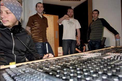 Mogwai en el estudio de grabación
