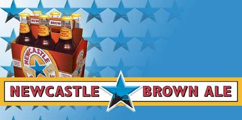 Imagen promocional de la Newcastle Brown Ale