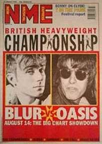 Portada de la NME en plena Batalla del Britpop