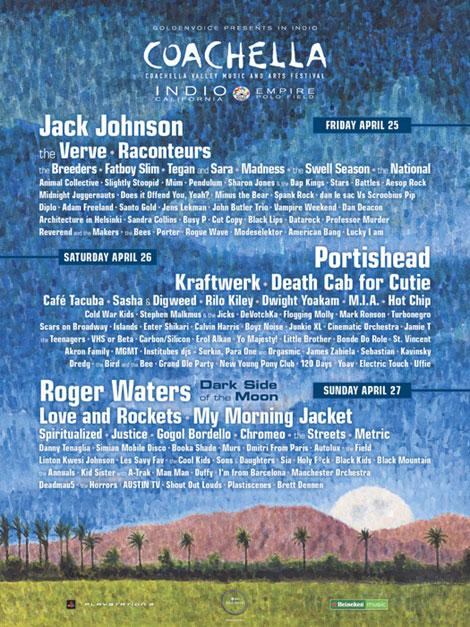Cartel del festival de Coachella 2008