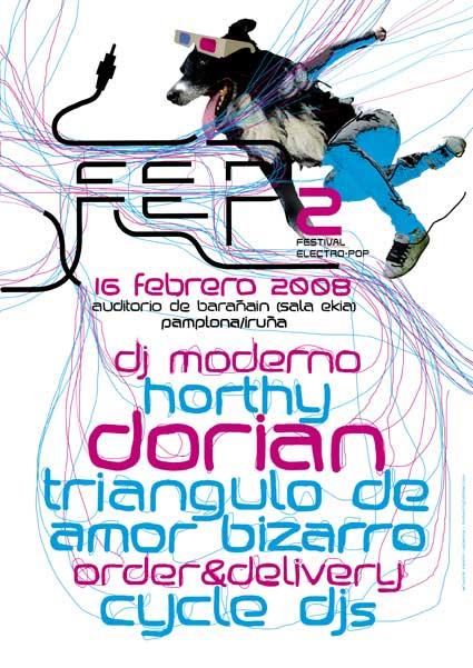 El cartel del festival de musica Electro-Pop de Pamplona