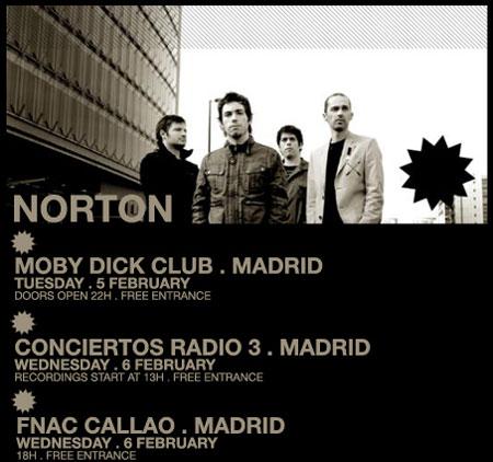 Cartel de los conciertos de Norton