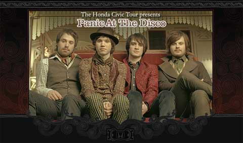 Panic At The Disco estarán en el Honda Civic Tour
