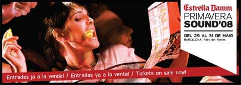 Imagen promocional del Primavera Sound 2008