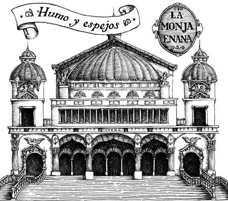 Portada del disco de La monja enana Humos y espejos