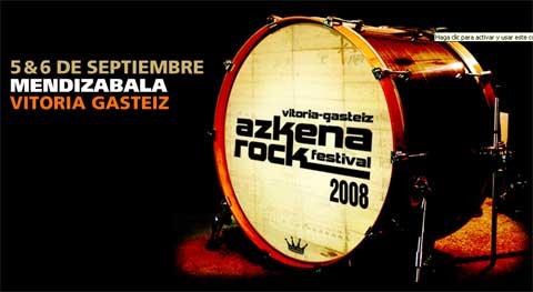 Imagen promocional del Azkena Rock Festival 2008