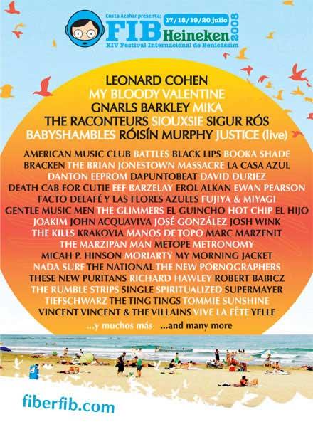 Cartel del Festival Internacional de Benicàsim
