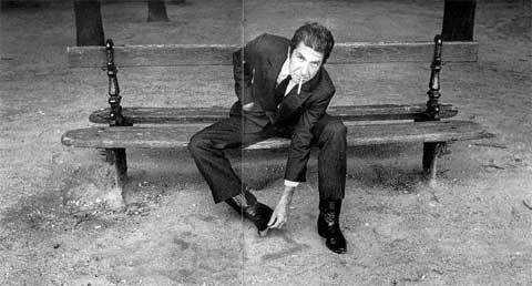 El cantante canadiense Leonard Cohen
