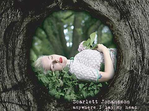 Portada del Anywhere I Lay My Head de Scarlett Johansson