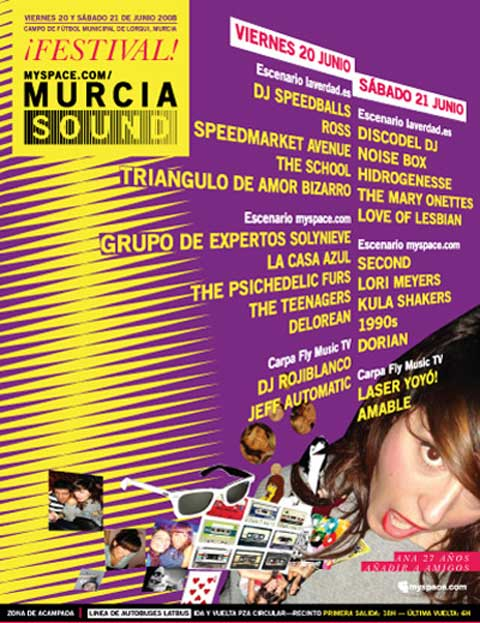 Cartel por días del Murcia Sound