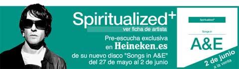 Imagen promocional de la preescucha del último disco de Spiritualized en Heineken.es
