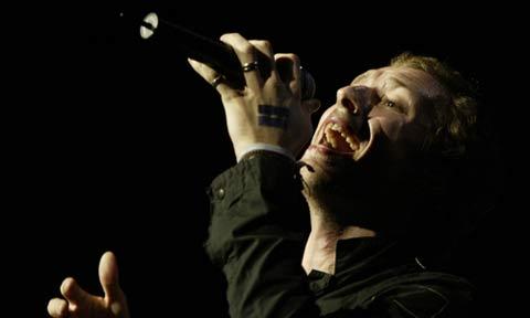Chris Martin, cantante de Coldplay, durante un concierto