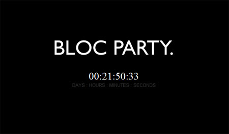 Imagn de la web de Bloc Party