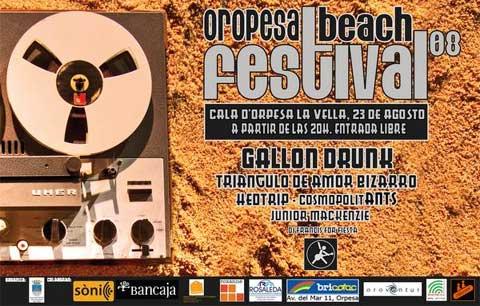 Cartel promocional del Oropesa Beach Festival 2008