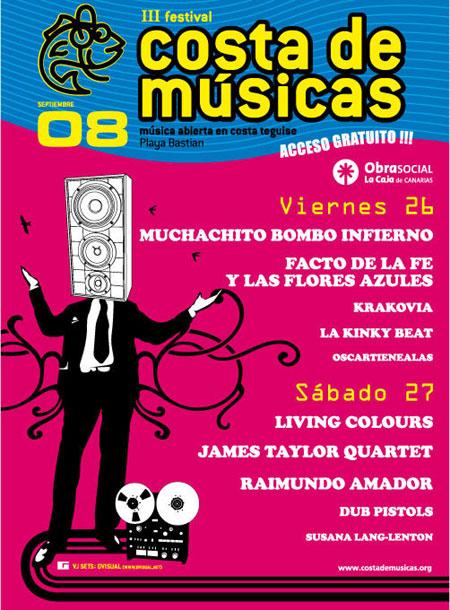 Cartel del festival Costa de Musicas