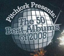 Imagen promocional de la lista de los 50 mejores discos de 2008 para Pitchfork