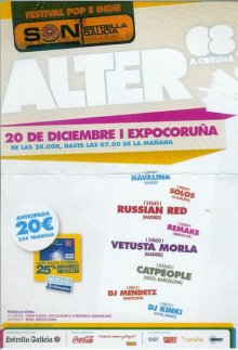 Cartel promocional del festival Alter 2008 de A Coruña