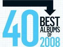 Imagen promocional de la lista de los 40 mejores discos de 2008 de Spin