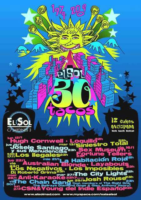 Cartel del aniversario de la madrileña sala El Sol