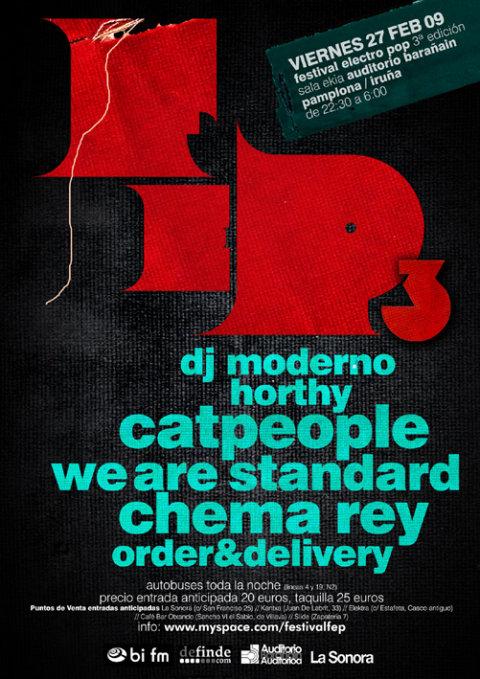 Cartel promocional del festival Electropop de 2009