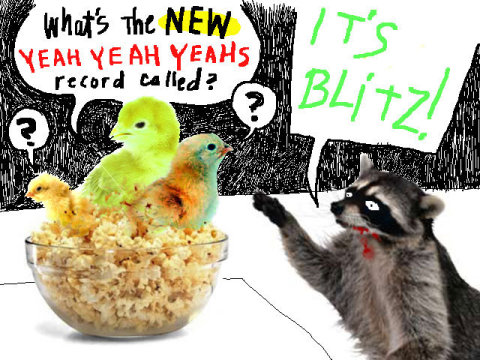 Viñeta por la cual los Yeah Yeah Yeahs han dado a conocer el título de su próximo trabajo