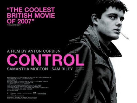Cartel promocional de la película Control