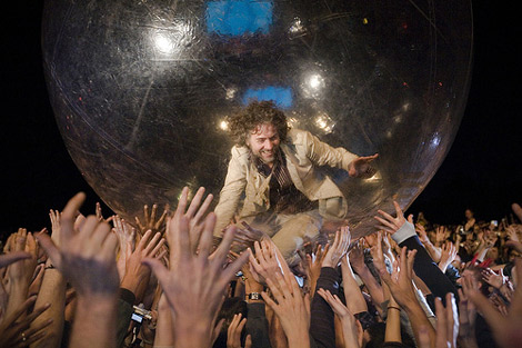 Wayne Coyne, cantante del grupo The Flaming Lips